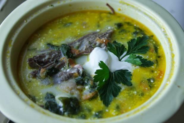 Борщ со шпинатом - 12 пошаговых фото в рецепте