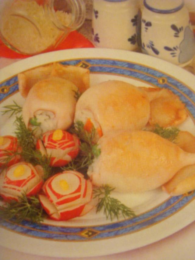 Кальмары фаршированные. рецепты от сибмам с фото - морепродукты