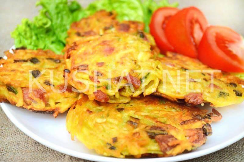 Колбасные драники с сыром и картофелем | страна мастеров
