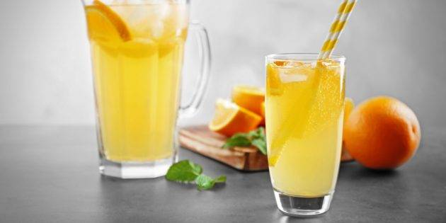Имбирный лимонад с апельсином