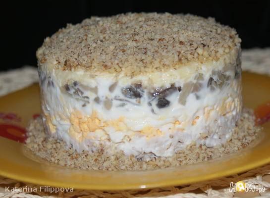 Рецепт: салаты с грецкими орехами