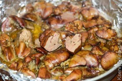 Куриная печень в духовке