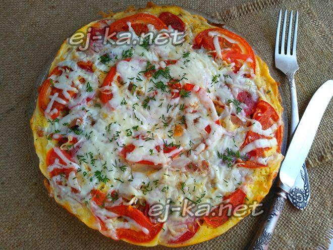 Быстрая супер пицца на сковороде