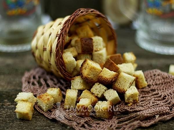 Пошаговый рецепт приготовления чесночных гренок с фото