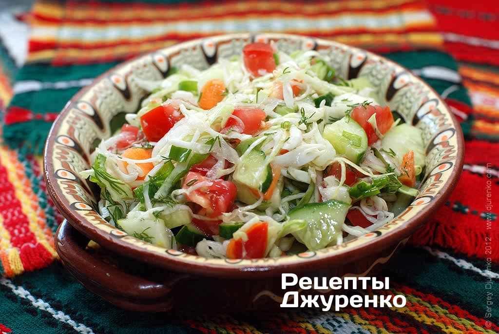 Салаты из листьев салата рецепты приготовления