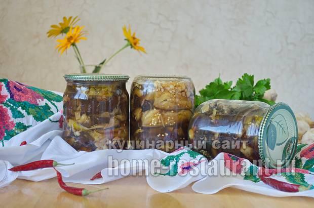 Острые жареные баклажаны на зиму