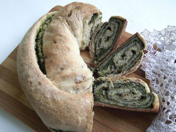 Рецепт: хлеб со шпинатом