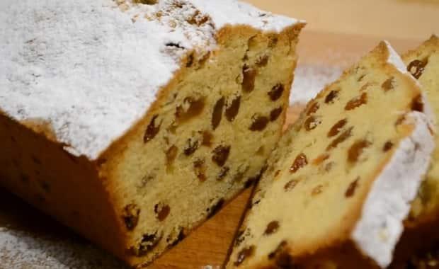 Кекс с изюмом в хлебопечке: рецепт приготовления с фото