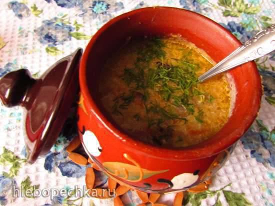 Кукурузный суп в горшочках