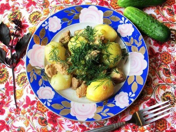 Картошка с мясом и горошком